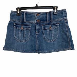 Z Cavaricci mini denim vintage skirt